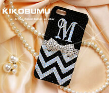 Monogram Bling Initial Rhinestone Customize Chevron For Various Phone Case Cover