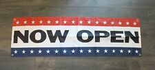 New Now Open Banner Sign 1.5 x 5 feet Grand Re-Opening Store Restaurant Big Flag