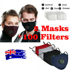 Washable Reusable Adult Anti Air Pollution Face Mask Respirator Mask Filters