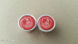Vintage style CAMPAGNOLO Handlebar End Plugs red