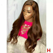 Luxury Lace Front Remy Wavy Remy Chocolate Medium Brown Full Lace Human Hair Wig