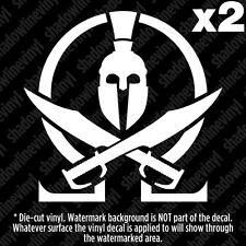 (x2) MOLON LABE SPARTAN Decal Sticker Come And Take Them NRA Pro Gun Spec Ops