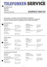 Telefunken Original Service Manual für Compact 2000 CD