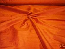 "HANDLOOM 100% SILK DUPION 54"" wide ORANGE BY HALF MT"