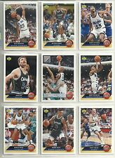 1992-93 Upper Deck McDonalds Orlando Magic 10-card Team Set  Shaquille O'Neal RC
