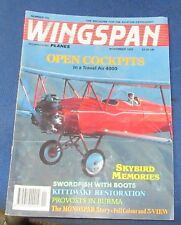 WINGSPAN MAGAZINE NOVEMBER 1993 - OPEN COCKPITS IN A TRAVEL AIR 4000