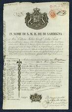 PEU COURANT - Passeport du Royaume de Piémont-Sardaigne pour la France - 1830