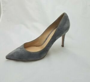Gianvito Rossi Suede Pumps Gray 37.5