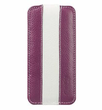Melkco Premium Leather Case for Apple iPhone 5c - Jacka Type Purple/White H16000