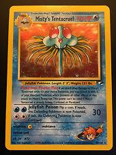 Carte Pokemon MISTY'S TENTACRUEL 10/132 Holo Gym Hereos Wizard NEUF