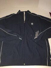 K-Swiss Windbreaker Warm Up Men's Jacket Small Navy Blue