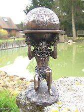 30193   FIGURINE STATUETTE   STATUE ATLAS PORTANT LE MONDE   STYLE    BRONZE