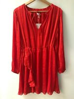 & Other Stories ® - Red Asymmetrical Dress -  Size EU 38 - NEW - RRP = £59.00