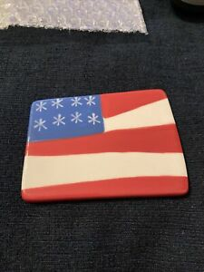 New NWT Coton Colors Flag Mini Attachment Red White Blue 4th July
