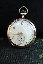 OMEGA 0.800 STERLING SILVER 1912 PORCELAIN DIAL VINTAGE SWISS POCKET WATCH.