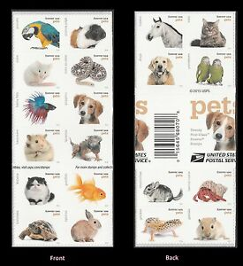 US 5125a Pets forever cross gutter booklet 20 MNH 2016
