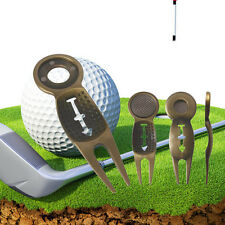 SilverGolf Divot Golf Ball Marker Repair Tool Pitch Fork Ball AlignmentIssue Pop