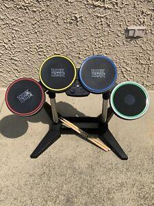 Rock Band 3 Harmonix PS3 Wireles Drum Set Model PSDMS2 Drums, Stand, & Sticks