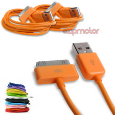 2X 6FT USB 30PIN ORANGE CABLE DATA SYNC CHARGER SAMSUNG GALAXY TAB 10.1 GT-P5100