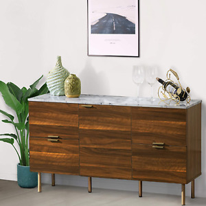 Good  Gracious Sideboard Cabinet, Mid Century Modern Console Storage Buffet Cre