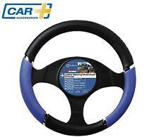 COCHE + coche cubierta para volante Cromo Azul Calidad Velocidad HORQUILLA FUNDA