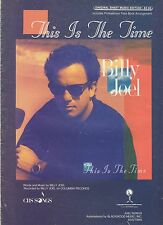 Billy Joel This Is The Time Us Sheet Music