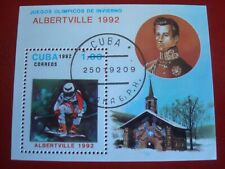 CENTRAL AMERICA :1992 OLYMPIC SKIING  MINISHEET UNMOUNTED USED MINIATURE SHEET
