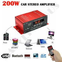 200W Stereo Power Amplifier HIFI Digital Bluetooth Audio AMP AUX FM Mic + Remote