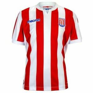 LARGE JUNIOR STOKE CITY OFFICIAL MACRON 2018 - 2019 HOME SHIRT~WAS £35.00 *BNWT*