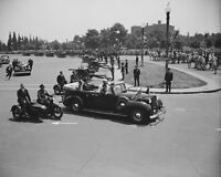 President Franklin D. Roosevelt in open-car with King George VI Photo Print