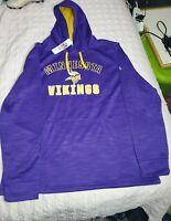 NFL Majestic  Minnesota Vikings Hoodie. Pullover Purple Size 2XL