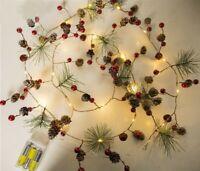 2m Christmas String Lights Garland tree Fairy Light  Wedding pre lit decorations