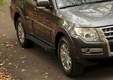 RIVAL Marche Pieds Aluminium  pour Mitsubishi Pajero 2007-2015 Basic Black