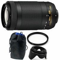 Nikon AF-P DX NIKKOR 70-300mm f/4.5-6.3G ED + 62mm Deluxe Bundle for Nikon DSLR