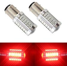 2x Red 1157 P21W 33 SMD 5730 LED Car Tail Stop Brake Lamp Bulb DC 12V Light Tool