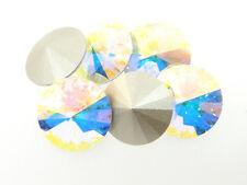 Swarovski Foiled Rivoli Stones Art.1122 18mm Crystal AB 6 Pieces cc