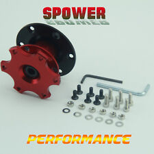 Red Racing Steering Wheel Removable Snap Off Quick Release Hub Adapter Boss Kits