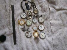 Antique Vintage Pocket Watch Lot Endura Westclox Equity Chains