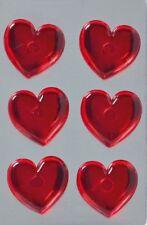 6 Walther Neodym Magnete Herzen Dekoration Kühlschrank starke Haushaltsmagnete