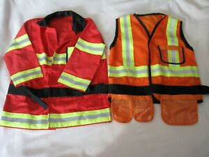Fire Chief + Construction Worker Role Play Jackets/Costumes - Melissa & Doug