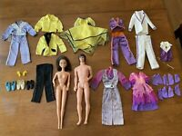 "VINTAGE MATTEL DONNY AND MARIE OSMOND DOLLS 12"" & CLOTHING"