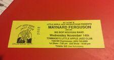 Vintage Maynard Ferguson Big Bop Nouveau Band Ticket 90s Rare
