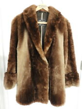 Vtg Womens Beaver Ludwig Weyer Furrier Buffalo NY Fur Jacket Coat Satin Lined 10