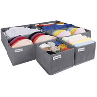 Clothing Storage Boxes Multipack Underwear Clothes Storing Drawer Organisers