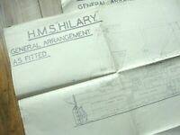 Original U.S. Navy Blueprints British HMS HILARY Normandy D-Day HQ Landing Ship