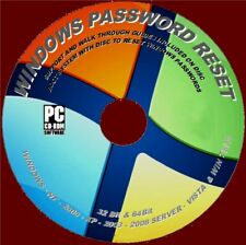 WINDOWS XP VISTA 7 8 10 LOST PASSWORD RESET/RECOVER CD EASY TO USE STEP BY STEP