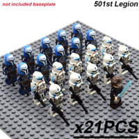 NEW 21pcs lot Star Wars 501st Legion clone Trooper Printed minifigures Toys Gift