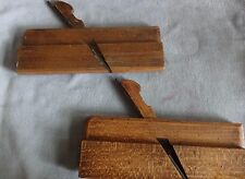 2 Antique 19 C. Wood Molding Planes~Wall Hangers for Country Kitchen~Stamped