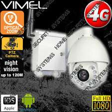 4G Wireless Security Camera PTZ 18XOptical Zoom GSM Farm Live View Outdoor 3G