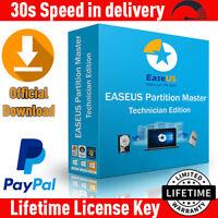 EaseUS Partition Master Pro 13.8 Technician ✔️ LifeTime License🔐 Full Version🔥